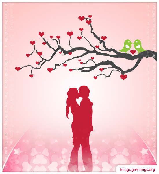 Love Romance Card 2, Send Love Romance Telugu Greeting Messages to your Sweet Heart!