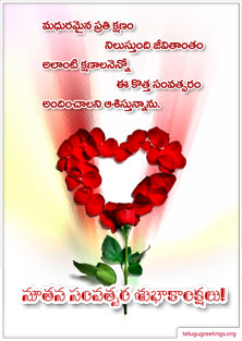 New Year Greeting 14, Send New Year 2020 Telugu Greeting Cards to your friends and family.